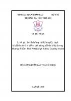 ĐÁNH GIÁ TÌNH TRẠNG rối LOẠN GIẤC NGỦ ở BỆNH NHÂN VIÊM cột SỐNG DÍNH KHỚP BẰNG THANG điểm THE PITTSBURGH SLEEP QUALITY INDEX