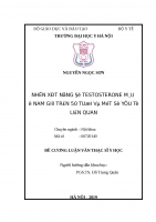 NHẬN xét NỒNG độ TESTOSTERONE máu ở NAM GIỚI TRÊN 50 TUỔI và một số yếu tố LIÊN QUAN