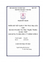 NHẬN xét kết QUẢ xạ TRỊ TRƯỚC mổ LIỀU CAO NGẮN hạn UNG THƯ TRỰC TRÀNG TRUNG BÌNH, THẤP GIAI đoạn CT3 4n0 2m0 1 tại BỆNH VIỆN k