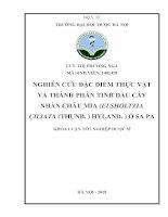 Nghiên cứu đặc điểm thực vật và thành phần tinh dầu cây nhàn châu mia ( Elssholtzia ciliata (thunb.) Hyland.) ở Sa Pa