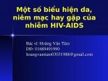 Y5 một số biểu hiện da, niêm mạc hay gặp của nhiễm HIV AIDS