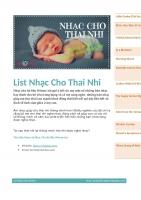 Nhạc Cho Bà Bầu iMomy  List Nhạc Cho Thai Nhi