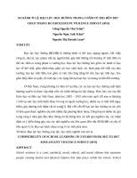 SO SÁNH TỈ LỆ BẠO LỰC HỌC ĐƯỜNG TRONG 3 NĂM TỪ 2015 ĐẾN 2017