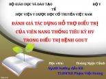 ĐÁNH GIÁ tác DỤNG hỗ TRỢ điều TRỊ của VIÊN NANG THỐNG TIÊU kỳ HV TRONG điều TRỊ BỆNH GOUT