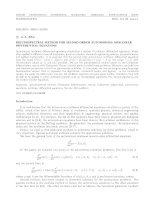 Pseudospectral method for second order autonomous nonlinear differential equations