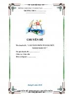 chuyên đề: Giải Toán Phân Tích Đa Thức Thành Nhân Tử