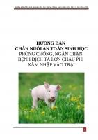 Quy trình thực hiện ATSH để phòng ngừa bệnh Dịch tả lợn Châu Phi xâm nhập vào trại