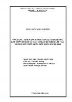 ỨNG DỤNG TÍNH NĂNG CONDITIONAL FORMATTING kết hợp với một số hàm cơ bản để THIẾT lập FILE hỗ TRỢ xếp THỜI KHÓA BIỂU TRÊN EXCEL 2010