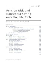 Chapter 21  pension risk and household saving over the life cycle