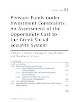 Chapter 24  pension funds under investment constraints; an assessment of the opportunity cost to the greek social security system