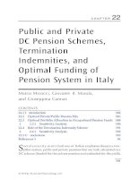 Chapter 22  public and private DC pension schemes, termination indemnities, and optimal funding of pension system in italy