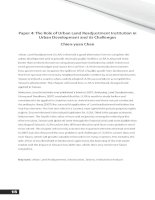 the role of urban land readjustment institution in urban development
