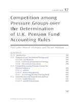 Chapter 17  competition among pressure groups over the determination of UK pension fund accounting rules