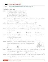 100 câu trắc nghiệm hàm số ôn thi THPTQG