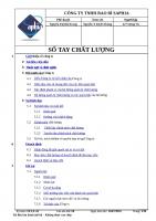 SỔ TAY CHẤT LƯỢNG ISO 9001 : 2015