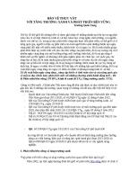 BẢO vệ THỰC vật với tăng trưởng xanh và PTBV