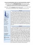 KHẢO SÁT TÌNH HÌNH BỆNH, THIỆT HẠI VÀ PHƯƠNG PHÁP PHÒNG, TRỊ BỆNH ORNITHOBACTERIUM RHINOTRACHEALE (ORT) TRÊN GÀ TẠI CÁC TỈNH  PHÍA NAM VIỆT NAM