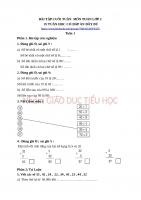 BÀI tập CUỐI TUẦN  môn TOÁN lớp 2   nhóm GIÁO dục TIỂU học