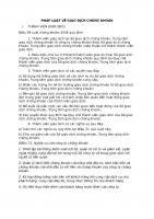 PHÁP LUẬT VỀ GIAO DỊCH CHỨNG KHOÁN