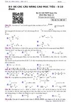 ĐỀ NÂNG CAO sô 1 môn toán