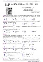 ĐỀ NÂNG CAO sô 2 môn toán