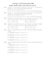 Câu hỏi trắc nghiệm toán lớp 12