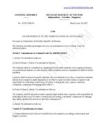 LUẬT SỮA ĐỔI BỘ LUẬT HÌNH SỰ ON AMENDMENTS TO THE CRIMINAL CODE NO