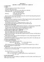 Tài liệu dạy thêm hóa học lớp 8