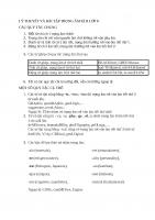 LÝ THUYẾT và bài tập TRỌNG âm kì II lớp 8