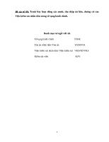 Tiểu luận giải quyết vụ án hành chính