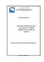 Đào tạo nguồn nhân lực tại công ty cổ phần khoáng sản và đầu tư visaco