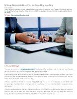 Những điều cần biết về phụ lục hợp đồng lao động