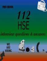 112 HSE interview questions with answers · version 1 pdf