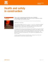 Health and safety   construction