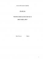 SKKN: Phương pháp giải bài tập Vật lí phần nhiệt lớp 8