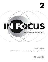 Cambridge in focus 2 teachers manual