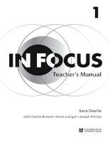 Cambridge in focus 1 teachers manual