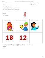 Lớp 3   unit 11