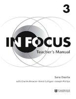 Cambridge in focus 3 teachers manual