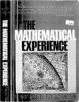 penguin press science philip j  davis reuben hersh the mathematical experience penguin books ltd 1990