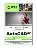 Kỹ Năng Autocar 2D cho người mới học