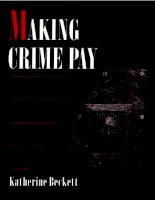 Making crime pay law and order