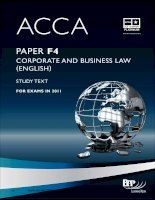ACCA f4 corporate and business law study text for 2011