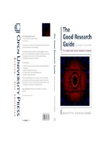Descombes good research guide, 2nd edition