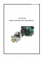 Giáo trình BDSC hệ thống phun xăng điện tử