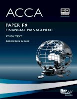 ACCA f9 financial management study text 2012