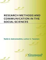 Tesfa g  gebremedhins research methods  communication