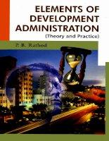 P b  rathod elements of development administration