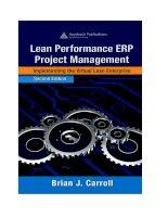 Carrolls lean performance ERP project management