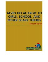 Alvin ho 1   allergic to girls school and other scary things